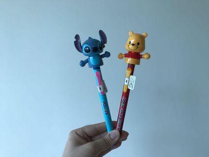 迪士尼大頭原子筆 (史迪仔 & 小熊維尼)