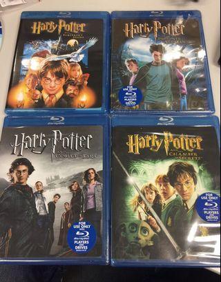 Harry Potter 哈李波特 1-4 Blu-ray (美版英字)
