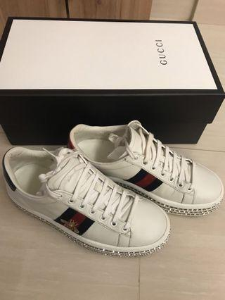 Gucci Ace crystals platform sneakers