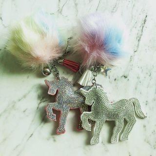 Unicorn bag charms / keychains