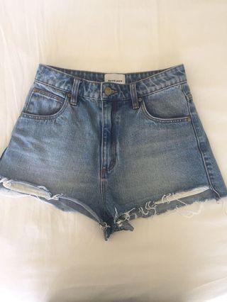 Abrand Denim Shorts Size 8/26