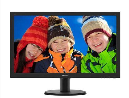 "23.6"" Philips LCD monitor with SmartControl Lite (Great LED images in vivid colors)"