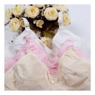 3 for $10 Nursing Bra 34/75B - Pink/White/Beige