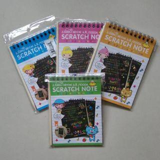 🚚 5pcs for $8 Rainbow Colours Scratch Art Paper Book (10cm x 14cm)