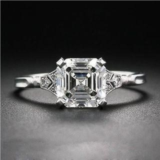 Asscher Cut Moissanite Diamond 1 - 2 Carat Available