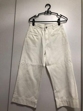 Cotton On wide legged denim pants (white)
