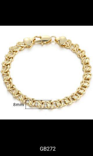 """Bracelet - A, B, C, D, E, F, G, H, I, J Size 7""""inch"""" 17.5cm, 8 """"inch"""" 20cm, 9 """"inch""""  22.5cm"""