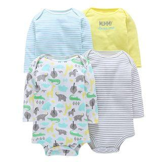 🚚 $18 Limited Time Only - 4pcs Baby Romper Long Sleeve