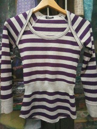 #mauthr Sweater strip ungu