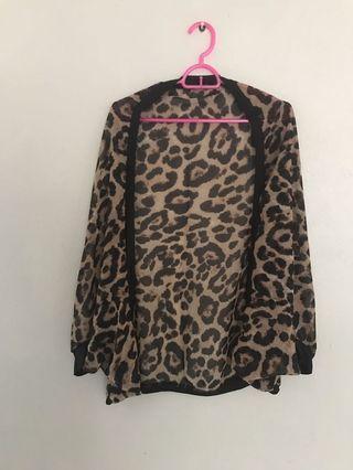 Leopard Batwings Cardigan
