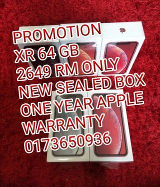 iPhone XR 64 GB 2649 RM Only Brand New Sealed Box
