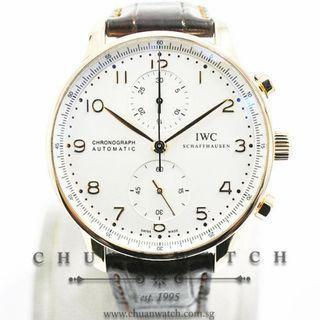Pre-Owned IWC Portuguese Chronograph Rose Gold 40.9mm IW371480