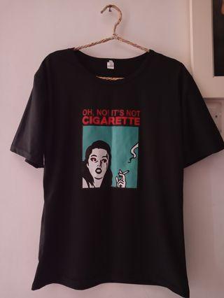 T Shirt black (oh no its not cigarette!)