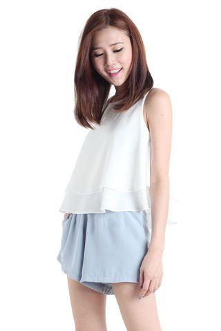 The Tinsel Rack Holly Double Tiered Top in White
