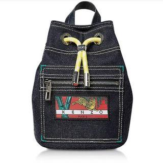 🚚 KENZO mini denim backpack Kanagawa Wave