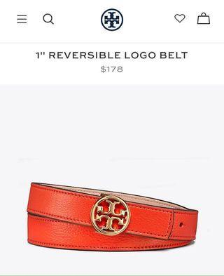 *REDUCE PRICE Tory Burch reversible logo belt #XMAS25