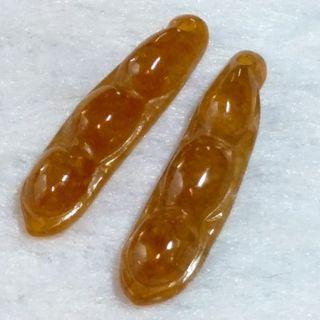 🍡連中三元🍡天然緬甸玉A貨翡翠-冰紅翡 精雕 福豆 一對