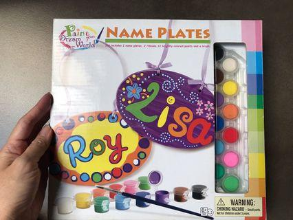 Create your name plates