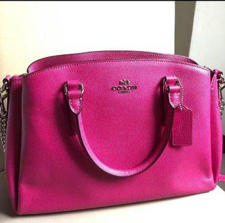 BN Authentic Hot Pink Coach Small Hand Bag
