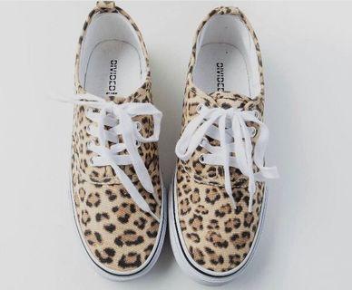 H&M shoes 豹紋休閒鞋