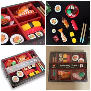 Brandnew sealed Japanese sushi pretend play toy for children. Material : plastic with Velcro