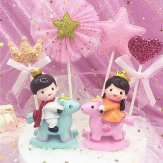 Prince and Princess cake toppers/ Figurine/toy/Display/miniature