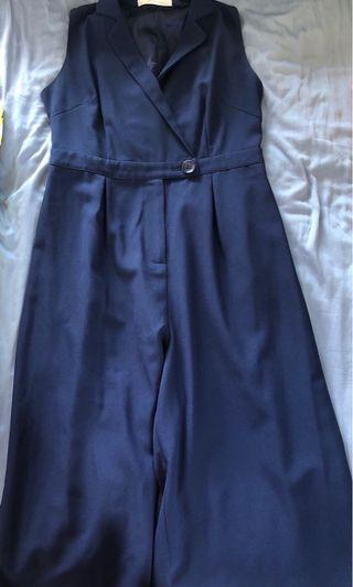 Love and Bravery Navy Jumpsuit