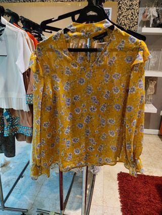 Primark floral blouse