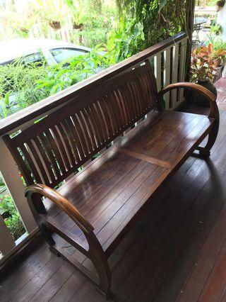 Teakwood 3 seater chair