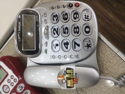 台灣三洋 SANLUX 來電顯示電話 免持撥號 重撥暫切 話中插撥 鈴聲免持音量可調 家用電話室內電話有線電話