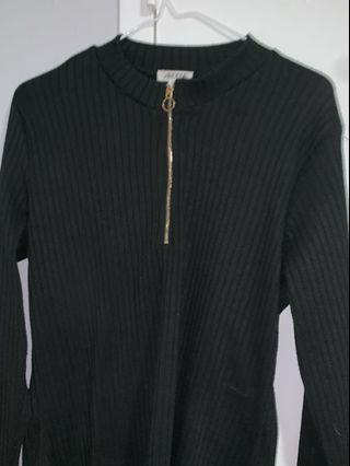 Black quarter zip up