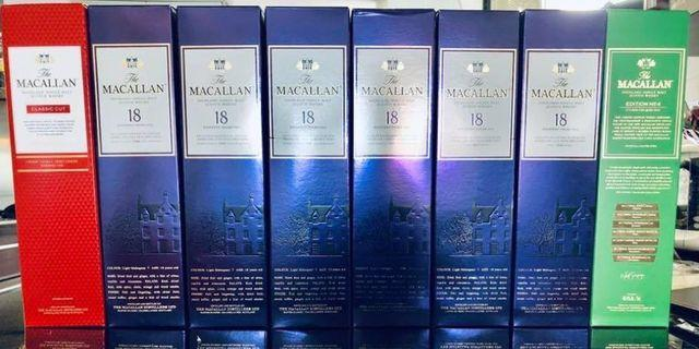 Macallan 18 Year Old Sherry Cask 1994,1995,1996,1997,2016 and 2017 Release