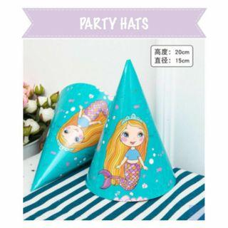 🚚 Sweet little mermaid party hats