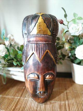 Nusantara tribal mask wood 1