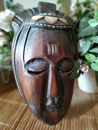 Nusantara tribal mask wood 3