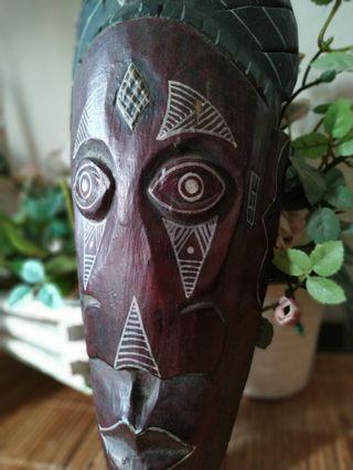 Nusantara tribal mask wood 4