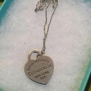 Authentic Tiffany & Co Heart pendant