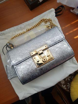 Gucci Padlock Metallic Shoulder Bag BRAND NEW