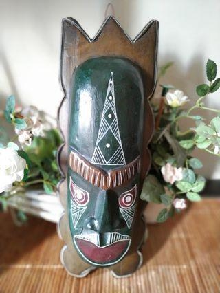 Nusantara tribal mask wood 6