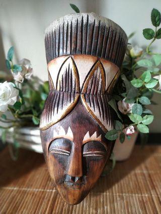 Nusantara tribal mask wood 7