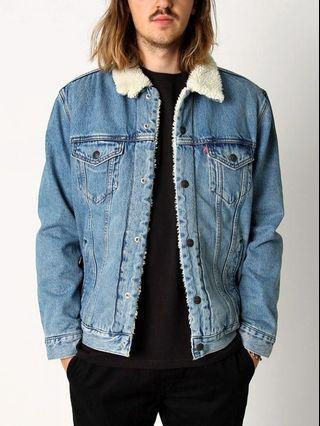 全新levi's sherpa trucker jacket 羔羊毛牛仔外套 鋪棉外套 levis
