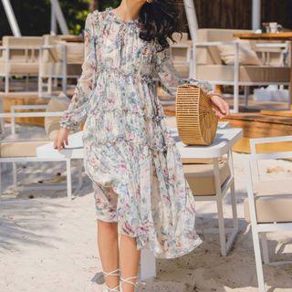 Zimmermann Style Resort Midi Dress Size 1 (Best for AU 10)