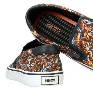 KENZO Velvet Flying Tiger Canvas Sneaker Signature