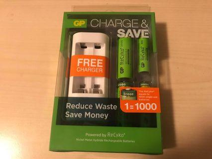 GP 全能充電寶連充電池