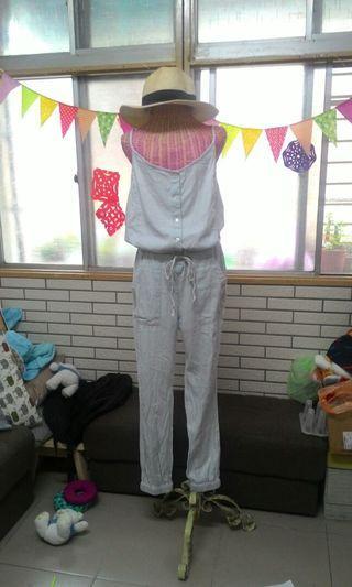 🚚 歐美淺藍吊帶連身褲/吊帶褲
