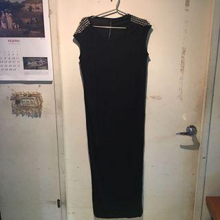 🚚 歐美 卯釘 莫代爾 連衣裙 連身裙 洋裝