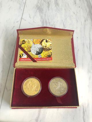 2004 Singapore Mint Zodiac Coin Set - Year of the Monkey