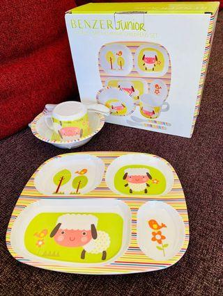 🚚 BENZER JUNIOR Melamine Children's Dinner Set / Meal Time Set