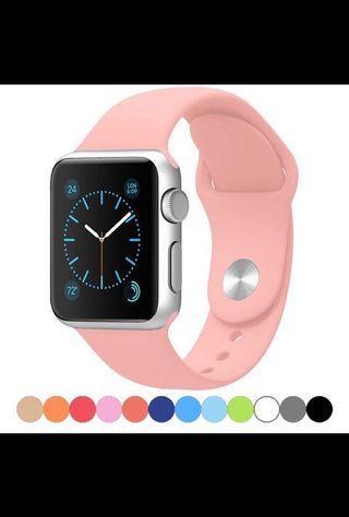 🚚 Apple Watch 42/44mm矽膠手錶帶二件組