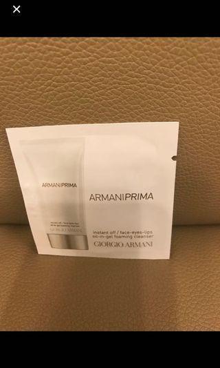Giorgio Armani armaniprima oil in gel foaming cleanser  潔面